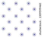 snow pattern blue white... | Shutterstock . vector #1309599460