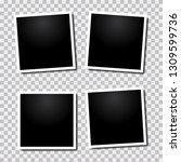 vector paper frame isolated on... | Shutterstock .eps vector #1309599736