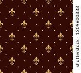 floral pattern. vintage... | Shutterstock . vector #1309600333