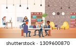 coworking space with creative... | Shutterstock .eps vector #1309600870