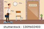office man in suit on hover... | Shutterstock .eps vector #1309602403