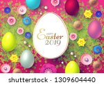 happy easter design template... | Shutterstock .eps vector #1309604440