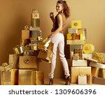 full length portrait of happy... | Shutterstock . vector #1309606396