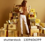 seen from behind stylish... | Shutterstock . vector #1309606399