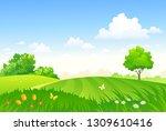 vector cartoon drawing of a... | Shutterstock .eps vector #1309610416