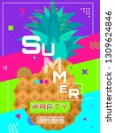 summer party colorful poster... | Shutterstock .eps vector #1309624846
