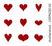 hearts icons set. vector... | Shutterstock .eps vector #1309628110
