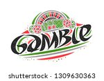 vector logo for gamble ... | Shutterstock .eps vector #1309630363