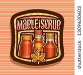 vector logo for maple syrup ... | Shutterstock .eps vector #1309630603