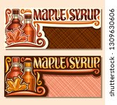 vector banners for maple syrup... | Shutterstock .eps vector #1309630606