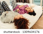 laughing out loud. couple of... | Shutterstock . vector #1309634176