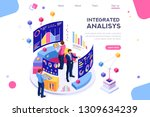 chart analyzing  statistics... | Shutterstock .eps vector #1309634239