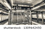 empty subway station interior.... | Shutterstock . vector #1309642450