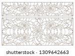 set contour illustrations of... | Shutterstock .eps vector #1309642663