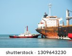 the ship under navigating by... | Shutterstock . vector #1309643230