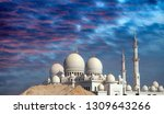 sheikh zayed mosque in abu... | Shutterstock . vector #1309643266