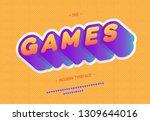 vector games font 3d bold style ... | Shutterstock .eps vector #1309644016