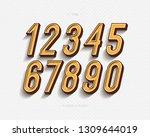 set of vector numbers set... | Shutterstock .eps vector #1309644019