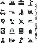 solid black vector icon set  ... | Shutterstock .eps vector #1309646656
