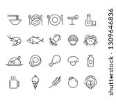 icon food and drink  vector | Shutterstock .eps vector #1309646836