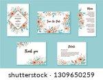wedding invitation frame set.... | Shutterstock .eps vector #1309650259