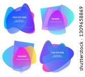 abstract liquid shape. fluid... | Shutterstock .eps vector #1309658869