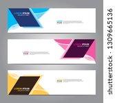 vector abstract web banner... | Shutterstock .eps vector #1309665136
