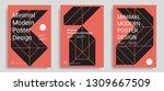 set of modern abstract design... | Shutterstock .eps vector #1309667509