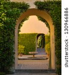 Arch In The Gardens Of The...