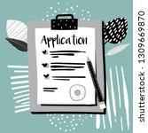 vector application form.... | Shutterstock .eps vector #1309669870