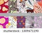 collection of seamless patterns.... | Shutterstock .eps vector #1309671190