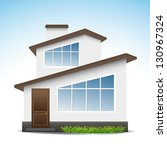 an illustration of a house | Shutterstock .eps vector #130967324