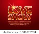 vector luxury emblem love show. ...   Shutterstock .eps vector #1309673953