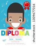 certificates kindergarten and... | Shutterstock .eps vector #1309677016