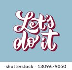 lets do it motivational hand... | Shutterstock .eps vector #1309679050