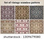 set of retro wallpaper and... | Shutterstock .eps vector #1309679080
