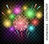 festival fireworks. banner for... | Shutterstock .eps vector #1309679659