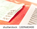 close up view of cash money... | Shutterstock . vector #1309683400