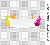 happy birthday banner... | Shutterstock .eps vector #1309685506