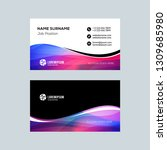 double sided horizontal... | Shutterstock .eps vector #1309685980