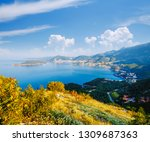 peaceful view of the budva... | Shutterstock . vector #1309687363