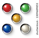 set of realistic colored retro... | Shutterstock .eps vector #1309689853