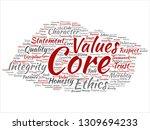 vector conceptual core values... | Shutterstock .eps vector #1309694233