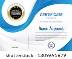 certificate template clean and... | Shutterstock .eps vector #1309695679