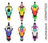 motorcycle top view. topping of ... | Shutterstock .eps vector #1309697023