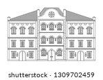 houses. old european buildings. ...   Shutterstock . vector #1309702459