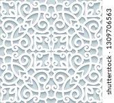 cutout paper pattern  lace... | Shutterstock .eps vector #1309706563