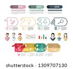 four steps modern web... | Shutterstock .eps vector #1309707130
