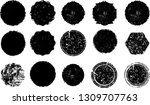 big collection of grunge post... | Shutterstock .eps vector #1309707763