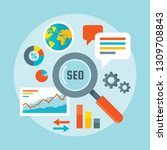 search engine optimization  ... | Shutterstock .eps vector #1309708843